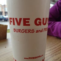 Photo taken at Five Guys by Rosario A. on 2/14/2013