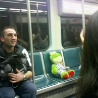Photo taken at MBTA Green Line - B Train by Paula S. on 3/13/2012