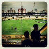 Photo taken at Estádio Heriberto Hülse by André C. on 1/27/2013