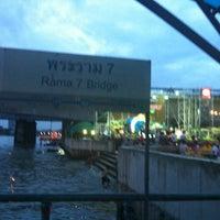 Photo taken at ท่าเรือพระราม 7 (Rama 7 Pier) N24 by Bow R. on 11/28/2012