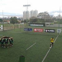 Photo taken at Julimar Green Football by Rhafael A. on 2/16/2014
