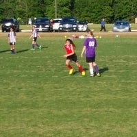 Photo taken at Corinth Soccer Fields by Erica M. on 4/22/2014