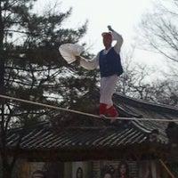 Photo taken at Korean Folk Village by Raysa R. on 4/4/2013