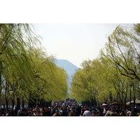 Photo taken at 白堤 Bai Causeway by William K. on 3/25/2014