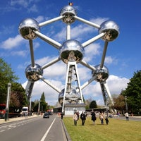 Photo taken at Atomium by Max M. on 5/9/2013
