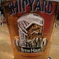 Photo taken at Shipyard Brew Haus by Dave T. on 2/9/2015