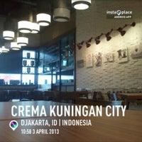 Photo taken at crema kuningan city by X-Tian on 4/3/2013