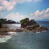 Photo taken at Tanah Lot Beach by Kathy F. on 4/14/2013