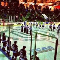 Photo taken at Thompson Arena at Dartmouth by Derek P. on 1/18/2014