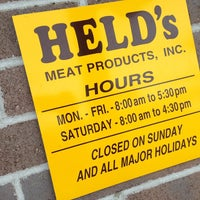 Photo taken at Held's Meat Market by Mark S. on 3/18/2013