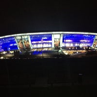Photo taken at Donbass Arena / Донбасс Арена by adem a. on 10/19/2012