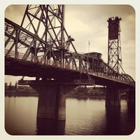 Photo taken at Hawthorne Bridge by Kayvon T. on 11/5/2011
