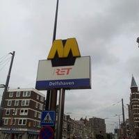 Photo taken at Metrostation Delfshaven by Martijn K. on 6/27/2012