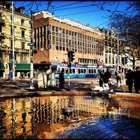 Photo taken at Bellevueplatz by Cesar M. on 5/22/2012