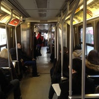 Photo taken at TTC Streetcar #501 Queen by Franco T. on 3/7/2012