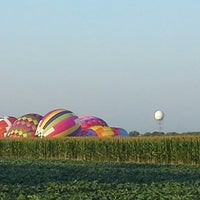 Photo taken at Lincoln Art & Balloon Festival - at Logan County Airport by Larry E. on 8/24/2013