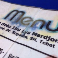 Photo taken at Sop/Soto Ibu Lys Mardjono by Putra A. on 11/2/2012