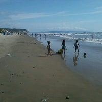 Photo taken at Playa de Canoa by Ferr on 2/14/2013
