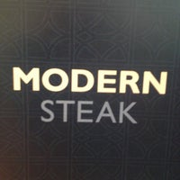 Photo taken at Modern Steak by Angee S. on 4/27/2013