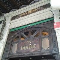 Photo taken at Café Iruña by Juan R. on 11/11/2012