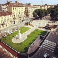 Photo taken at Piazza Solferino by Simone C. on 6/24/2013
