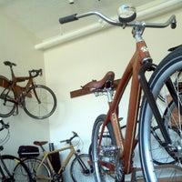 """Photo taken at Renovo Hardwood Bicycles by Eric """"@erich13   @coach4sm"""" H. on 10/7/2012"""
