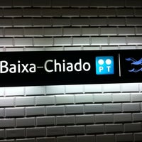Photo taken at Metro Baixa-Chiado [AZ,VD] by Eddie Pipocas on 9/27/2012
