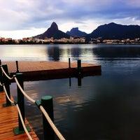 Photo taken at Lagoa Rodrigo de Freitas by Thiago D. on 4/24/2013