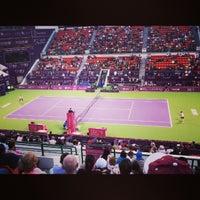 Photo taken at Khalifa International Tennis & Squash Complex by Debbie on 2/15/2013
