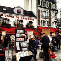 Photo taken at Place du Tertre by Ashraf Wood on 12/25/2012