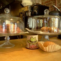 Photo taken at Gypsy Donut & Espresso Bar by Angela J. on 10/16/2012