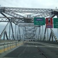 Photo taken at Tappan Zee Bridge by Hallie C. on 11/8/2012
