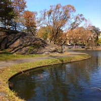 Photo taken at Central Park - Harlem Meer by David C. on 11/9/2012