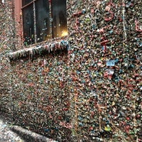Photo taken at Gum Wall by Dave on 2/21/2013