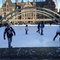 Photo taken at Nathan Phillips Square by Albert on 1/21/2013