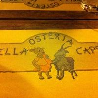 Photo taken at Osteria Della Capra Di Belli Romana E Angela by Valerio on 4/28/2013