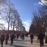 Photo taken at Gardens of the Champs-Élysées by Owen J. on 3/9/2013