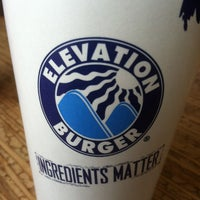 Photo taken at Elevation Burger by Claudia U. on 1/23/2013