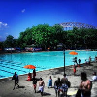Photo taken at Astoria Park Pool by Jeff R. on 7/16/2013