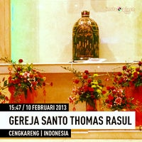 Photo taken at Gereja Santo Thomas Rasul by Andreas S. on 2/10/2013