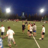 Photo taken at Футбольное поле МГУ by Pavel K. on 5/14/2013