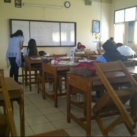 Photo taken at SMAN 62 Jakarta by Marchi M. on 1/11/2014