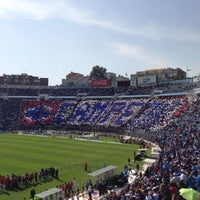 Photo taken at Estadio Azul by Carlos Patricio J. T. on 4/14/2013
