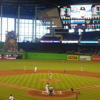Photo taken at Marlins Park by Crystal G. on 6/15/2013