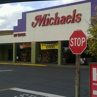Photo taken at Michaels by Papa John on 10/23/2012