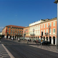 Photo taken at Place Masséna by Eleni A. on 9/19/2012