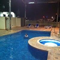 Photo taken at Pool @ Dubai Gate 1 by Clarkwin C. on 9/13/2011