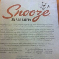 Photo taken at Snooze: An A.M. Eatery by Huey Y. on 1/21/2013