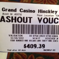 Photo taken at Grand Casino Hinckley by Laura V. on 12/10/2012
