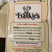 Photo taken at Frankie's Place for Ribs by Jay D. on 4/12/2014